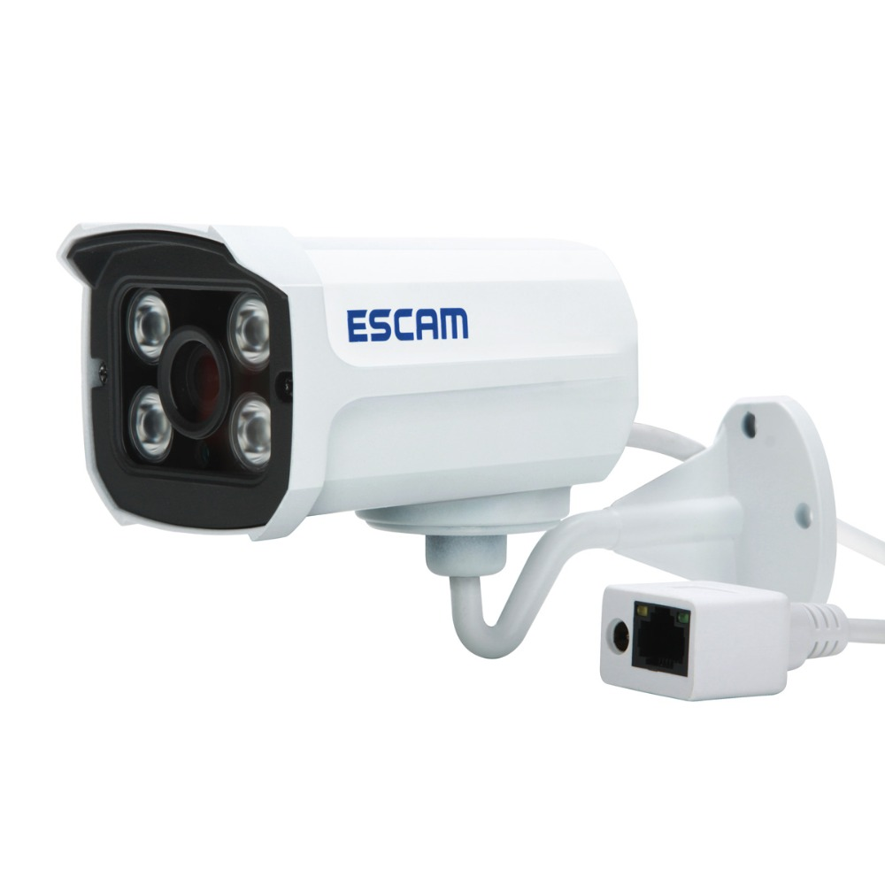 ФОТО ESCAM QD300 IP66 HD 720P Waterproof  IP Camera 1.0MP Outdoor Network Camera 3.6mm  Len Night Vision P2P CCTV Bullet Camera ONVIF