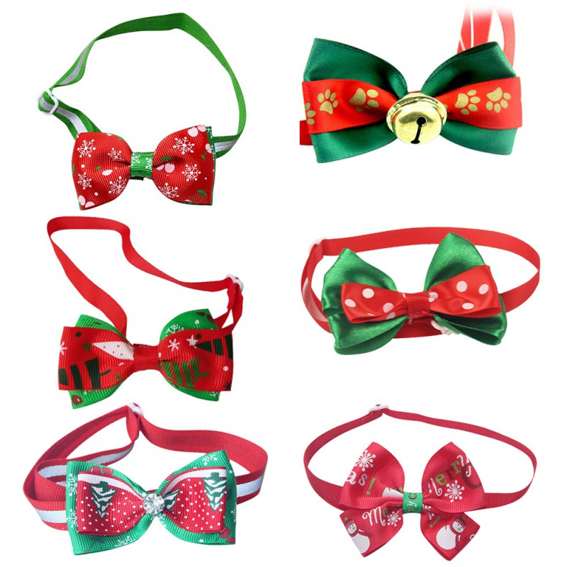 Christmas Wedding Cats Dog Tie Decor Dogs Bowtie Collar Holiday Decoration Christmas Grooming Pet Supplies 2019