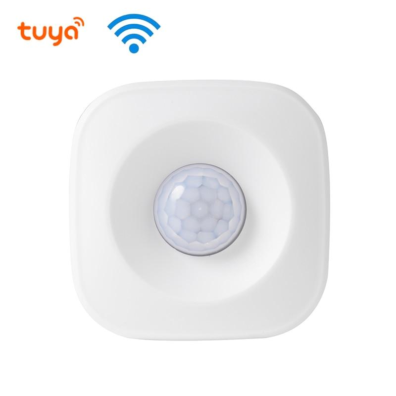 WIFI PIR Motion Sensor Wireless Passive Infrared Detector Security Burglar Alarm Sensor Tuya APP Control Compatible With Alexa G