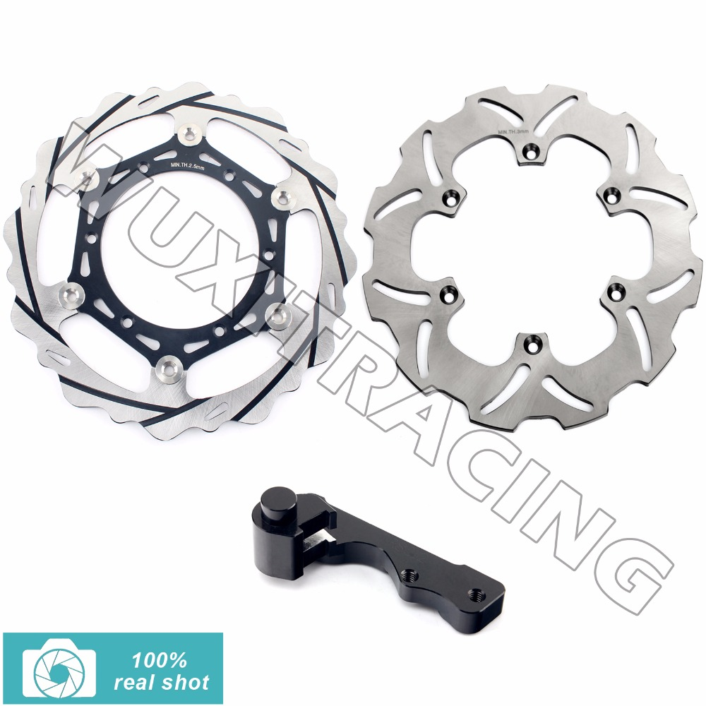 Oversize 270MM Front Rear Brake Disc Rotor Bracket Adaptor for SUZUKI RM 125 250 RM125 RM250 96 97 98 99 00 01 02 03 04 05 06-12 fit for rm 125 00 09 rm250 00 01 02 03 04 05 06 07 08 09 10 11 12 front rear brake disc rotor bracket bracket oversize 320mm