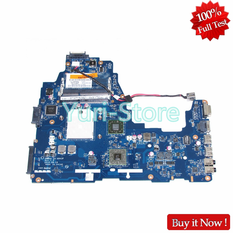 NOKOTION Laptop Motherboard For toshiba satellite C660 C660D MAIN BOARD PWWAA LA-6843P K000111550 Socket S1 HD4200 DDR3 Free CPU nokotion a000076380 laptop motherboard for toshiba satellite l655d l650d socket s1 ddr3 da0bl7mb6d0