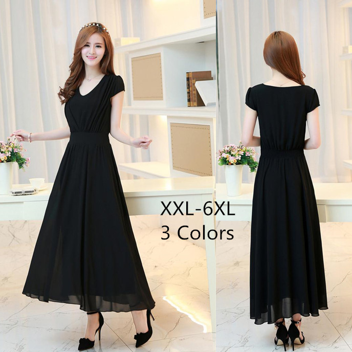 Solid Color Tall Waist V Neck Ball Gown Dresses 2015 Women Chiffon ...