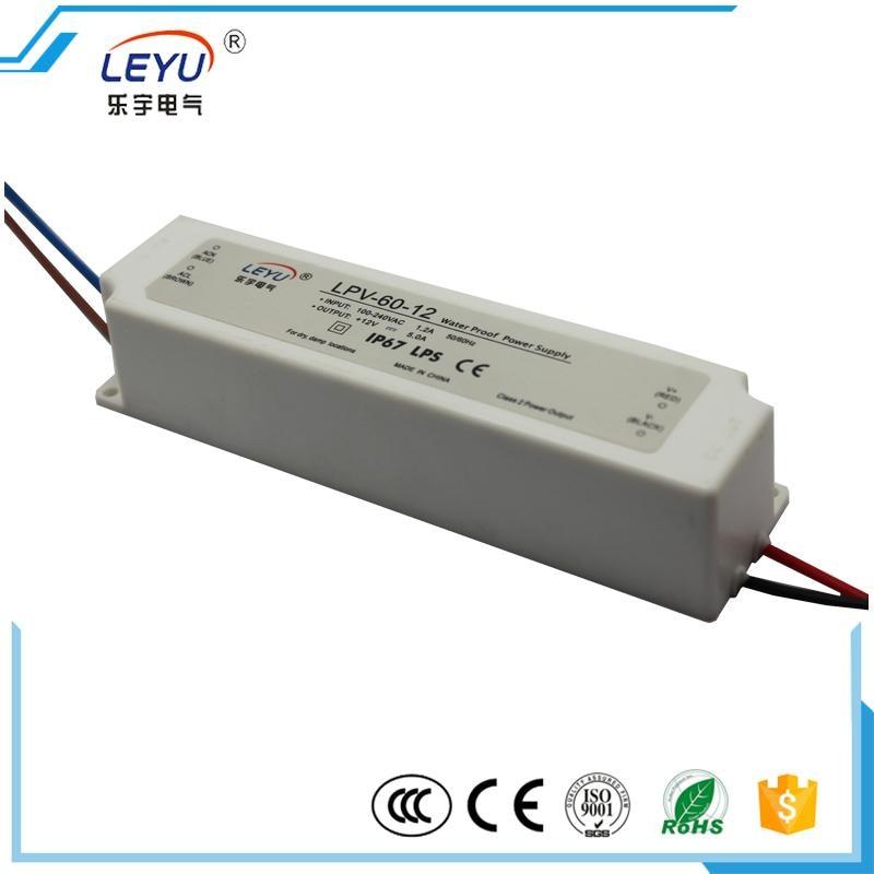 Plastic case / compact size CE RoHS IP67 LPV-60-12 waterproof 12v 60w led power supply видеодомофон kdoor wifi ios ip ce rohs kdoor 6