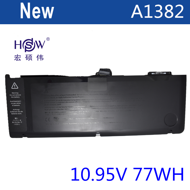 HSW laptop battery for APPLE A1382,020-7134-01,661-5844 MC723LL/A & MC721LL/A A1286 FOR Macbook Pro 2011 version lmdtk new laptop battery for apple macbookpro 15 a1286 2009 version mb985 mb986 replace a1321