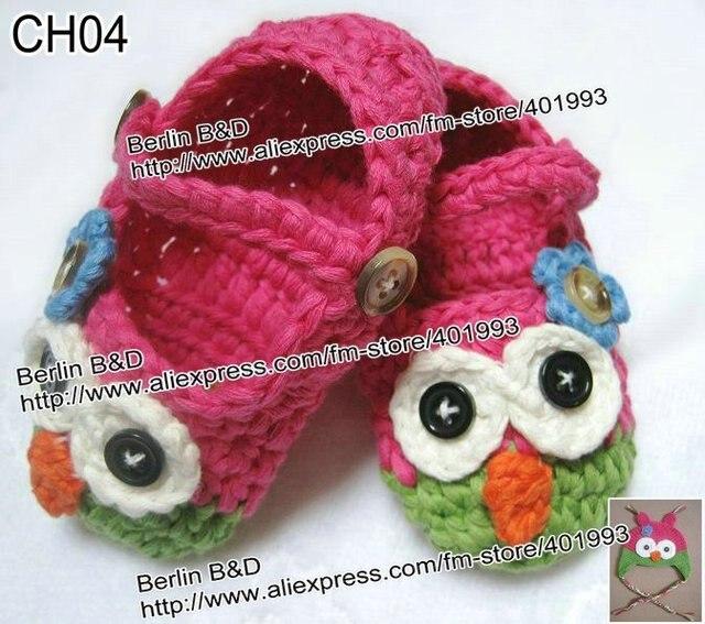 36 Paarelos Mary Janes Hausschuhe Babyhäkelarbeit Schuhe Eule