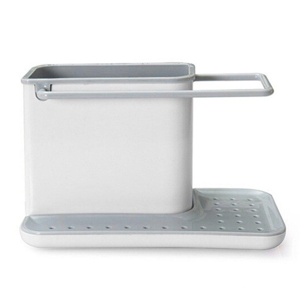 พลาสติก Racks Organizer แคดดี้ห้องครัว SINK ภาชนะถือแบบบูรณาการ Drainer ดีครัวเครื่องมือ