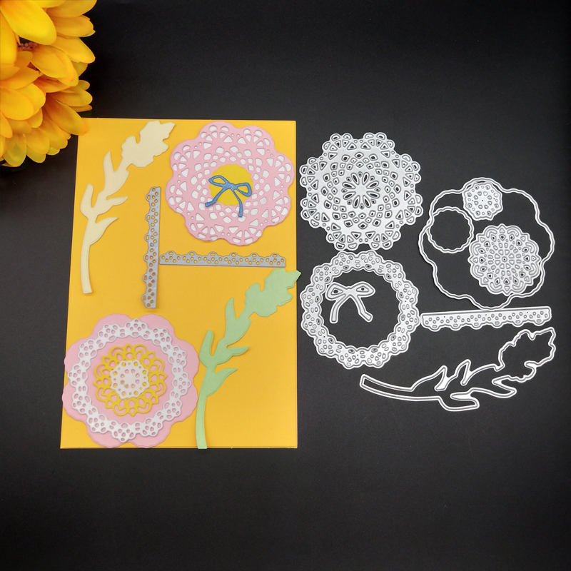 Flower Wheat ears Bow-knot Metal Cutting Dies Stencils For DIY Scrapbooking Album Paper Card Photo Decor Craft 14*16CM