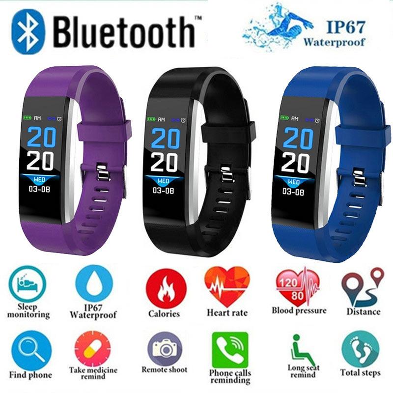 4379bc857290 B2 pulsera Bluetooth Smart correr podómetro de la vigilancia de la presión  arterial remoto Tomar foto impermeable deportes pulsera