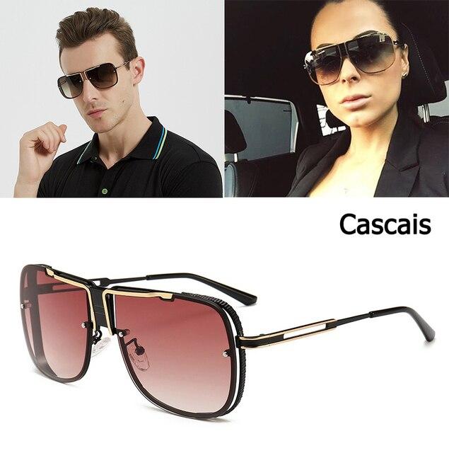 90dfbc6eb7 JackJad Fashion Cool Unique Square Aviation Style Cascais Sunglasses Men  Brand Design Sun Glasses Oculos De