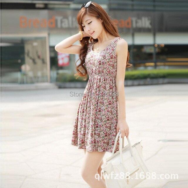 ef3bc9a111f Cheap women summer one-piece dress tank dress women fashion casual floral  dress