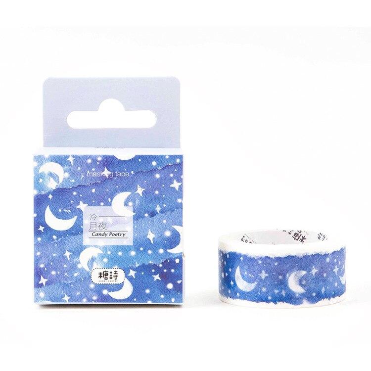 Stars & Moon Washi Tape Scrapbooking Paper Adhesive Tape Masking Tape Memo Pad