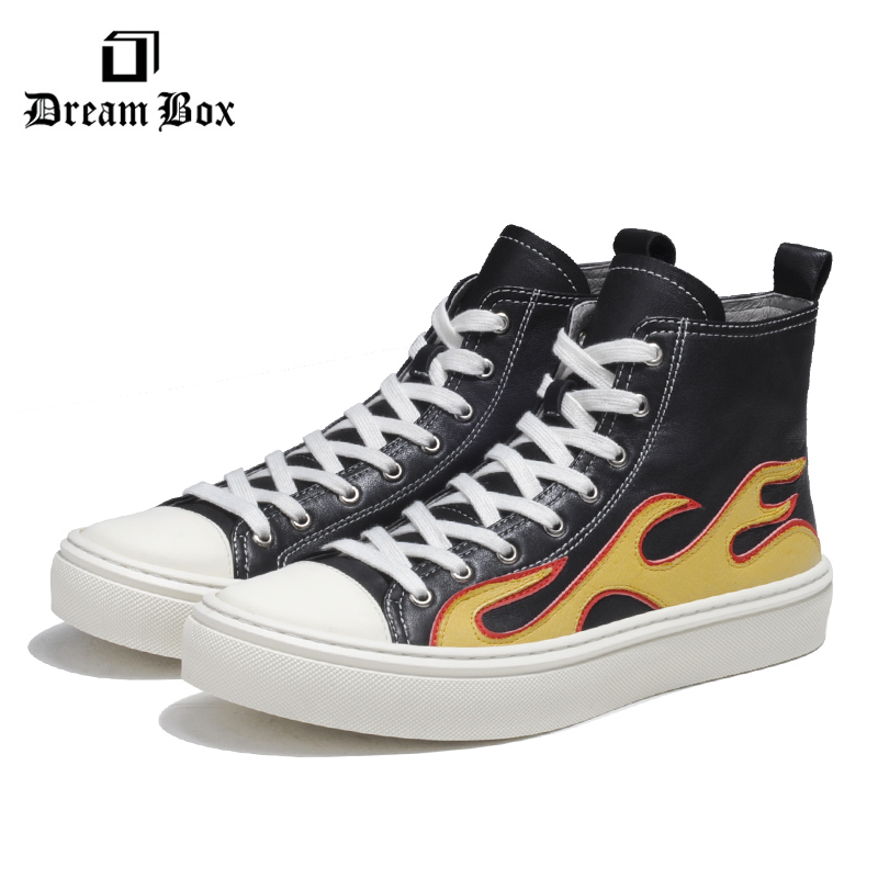 High top Shoes Men 39 s Hip hop Fashion Casual Shoes Thick soled Leather Winter Мужская обувь in Men 39 s Casual Shoes from Shoes