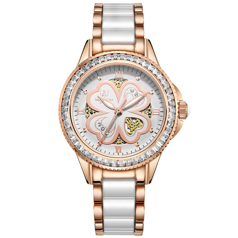 SEKARO 8036 Switzerland watch women luxury brand Ceramic Rhinestone Womens Wristwatch Woman Sapphire Relogio FemininoSEKARO 8036 Switzerland watch women luxury brand Ceramic Rhinestone Womens Wristwatch Woman Sapphire Relogio Feminino