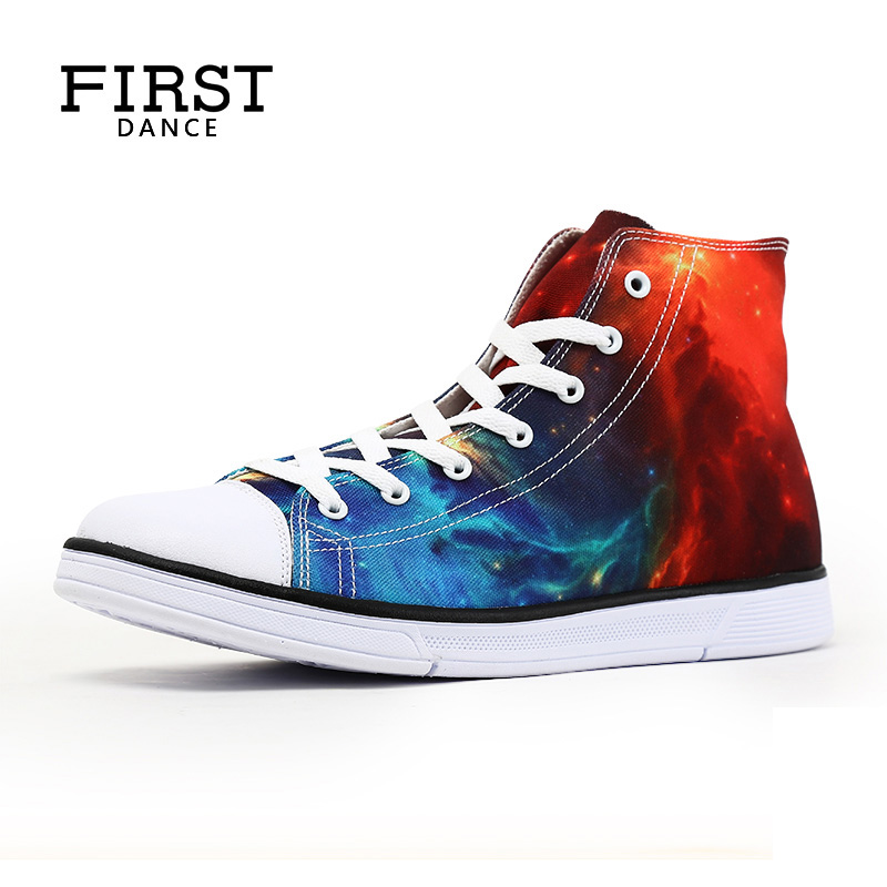 Men Casual High Top Shoes Customerizd 3D Prints Unisex Canvas Shoes Flat With Students Party Shoes Comfortable Female Flats Shoe e lov women casual walking shoes graffiti aries horoscope canvas shoe low top flat oxford shoes for couples lovers