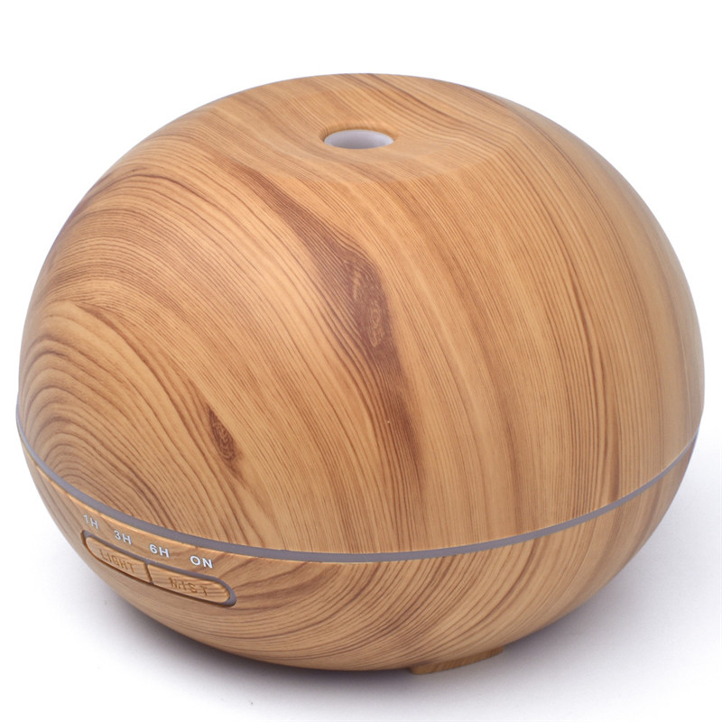 NEW Wood Ball Aromatherapy humidifier 300ml Ultrasonic Mute Colorful Oil Disperser Home Office Bedroom Parlor Den Yoga Spa 4pcs new for ball uff bes m18mg noc80b s04g