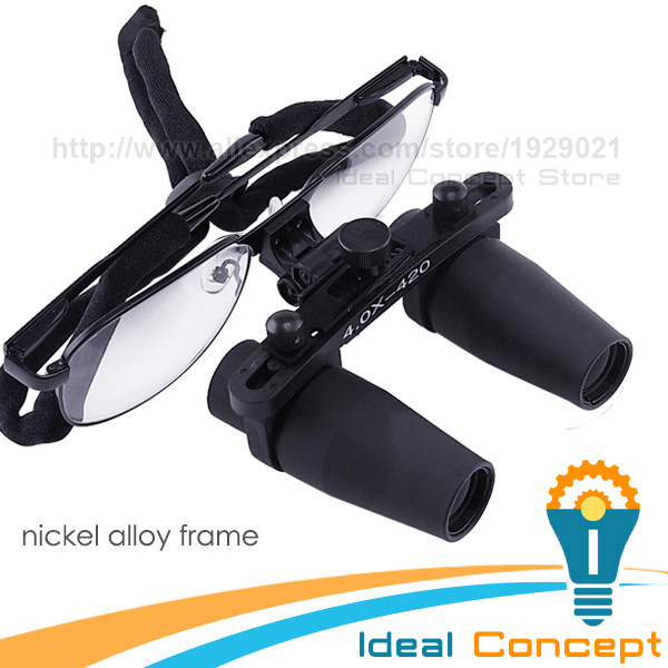 4x Magnification Dental Loupes Keplerian Surgical Medical Dentistry Nickel Alloy Frame
