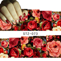1 sheet Sexy Red Rose Water Transfer Nail Art Stickers Decals Decorations DIY Watermark Wraps Manicure Tools #STZ-073
