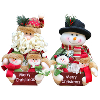 Lovely Santa Claus Snowman Doll Flannel Craft Christmas Family Portrait For Kids Gifts Merry Christmas 20177