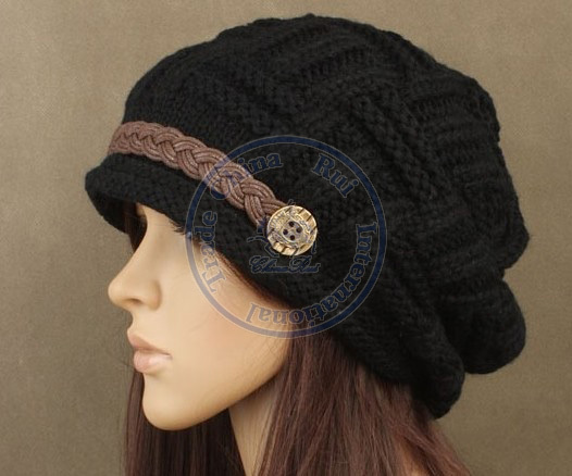 цены Nice button chain knited hat Beanies Cap Autumn Spring Winter fashion girl lady's multi color wholesale