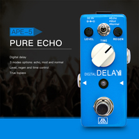 AROMA APE 5 Pure Echo Digital Delay Guitar Effect Pedal 3 Modes Delay Effects Aluminum Alloy