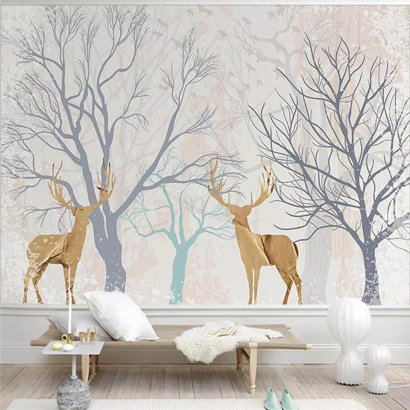 Creative simple TV background wall professional production mural factory wholesale wallpaper mural poster photo wall in Fabric Textile Wallcoverings from Home Improvement