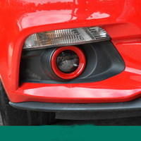 ABS Chrome Front Fog Light Cover Trim Car Accessories For Ford Mustang 2015 2016 2017