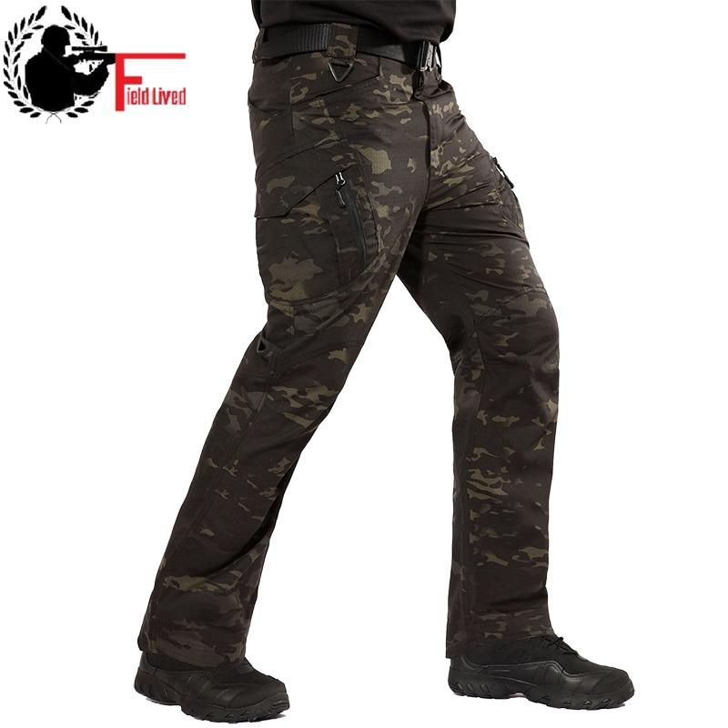 Cargo-hosen Hohe Qualität Männer Camouflage Cargo-klettern Hosen Slim Fit Freien Militärische Taktische Kleidung 10 Größe Männer Taktische Hosen Hosen