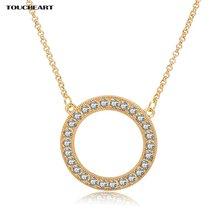 Женские ожерелья с кристаллами toucheart круглые и подвески