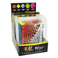 Чжишен YUXIN Хуанлун 11 слоев Cube Stickerless/черный 11x11x11 куб головоломка 11 слоев Игрушечные лошадки для детей YX1071