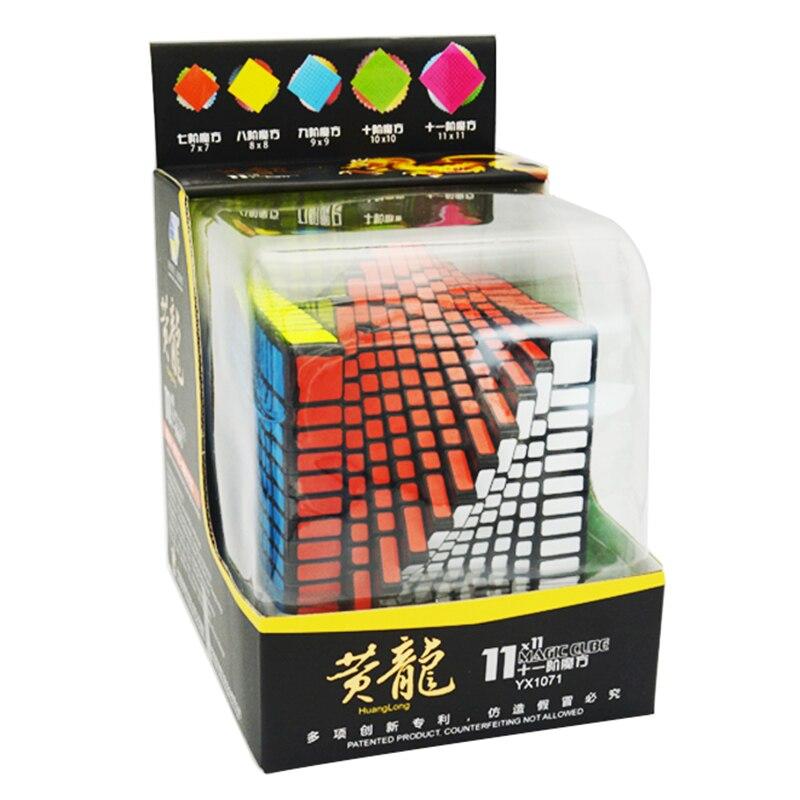 Zhisheng Yuxin Huanglong 11 Couches Cube Stickerless/Noir 11x11 ---- 11 Cube Puzzle Jouets Pour Enfants Enfants YX1071