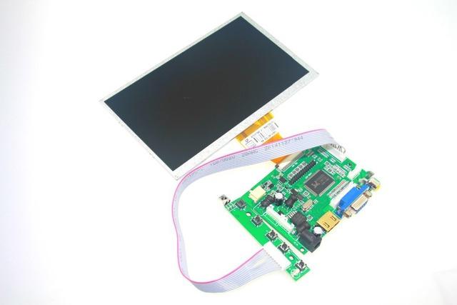 Raspberry pi lcd com hdmi vga av tela 7 polegadas Módulo Monitor Para Pcduino Pi De Banana 800x480 com teclado placa