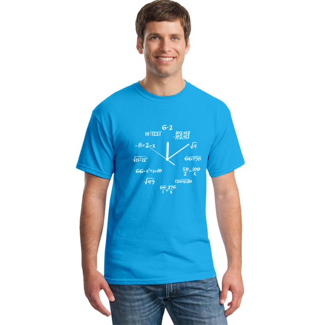 Mathematic clock t-shirt (different colours)