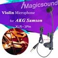 Professional Voice Pickup Instrument Microphone Musical Condenser Mic Violin Mandolin for AKG Samson 30-40mm Thickness XLR 3Pin