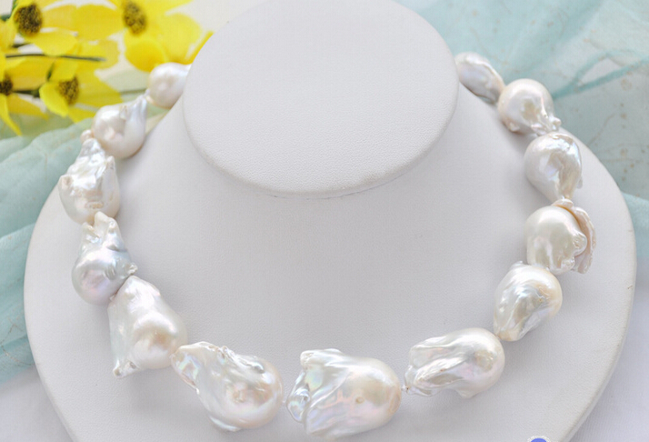 P5057 Huge Lustre A++ 17 25mm white baroque KESHI REBORN PEARL NECKLACE ^^^@^Noble style Natural Fine jewe FREE SHIPPINGP5057 Huge Lustre A++ 17 25mm white baroque KESHI REBORN PEARL NECKLACE ^^^@^Noble style Natural Fine jewe FREE SHIPPING