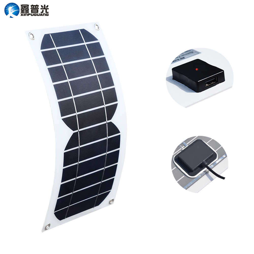 Solar Panel 5W 6V 800MA Semi Flexible Cell USB Output Charger with Voltage Regulator for Mobile Phone Phone Power Bank USB Solar Panel