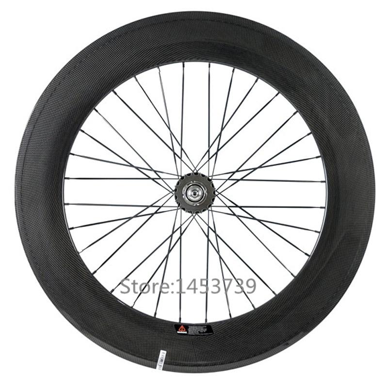 Fixed gear bike 88mm clincher tubular carbon wheelset with Novatec hub track bike carbon wheels