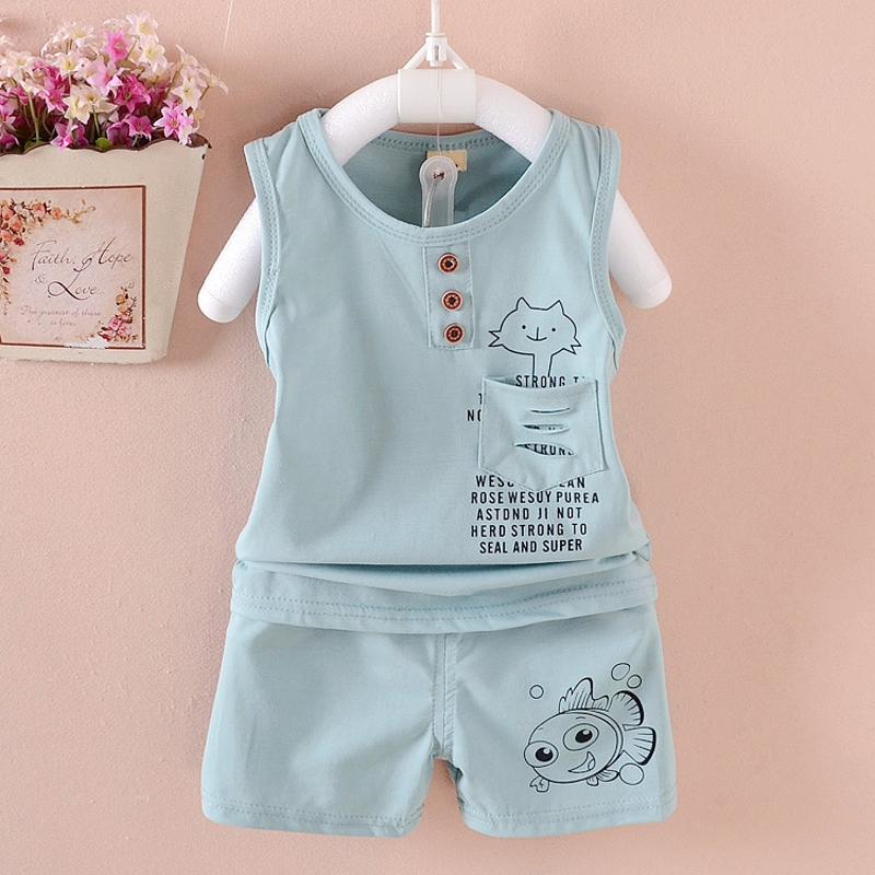 2017 summer new children clothing set 100% cotton Cartoon baby vest suit 1-5 years boys girls clothing sets baby Baby suits high quality 100% cotton baby clothing set toddlers children set baby boys girls 2 pcs rabbit print hot sale pink 6t5t4t3t24m12