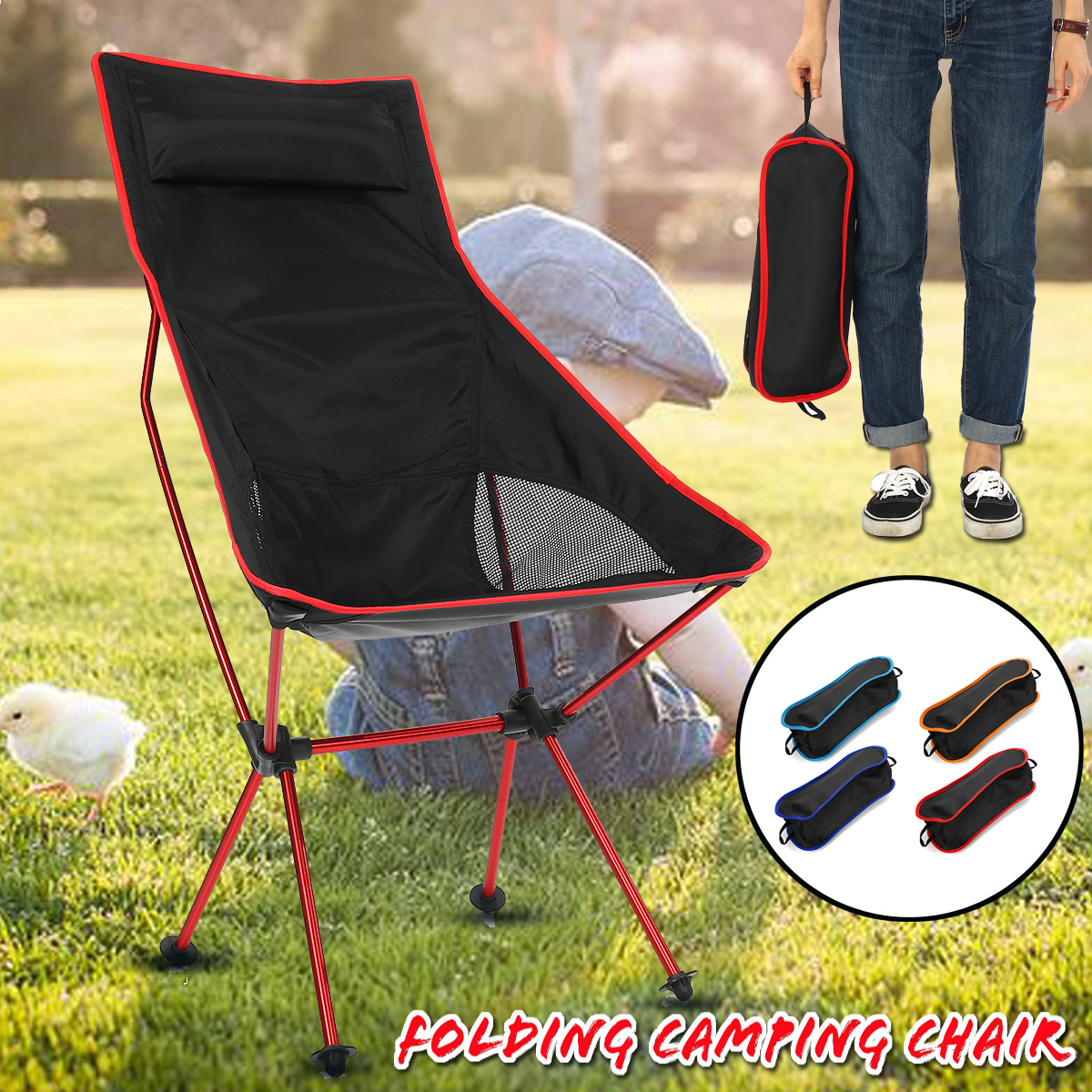 Surprising Lightweight Ultra Light Folding Camping Chair Portable Bralicious Painted Fabric Chair Ideas Braliciousco