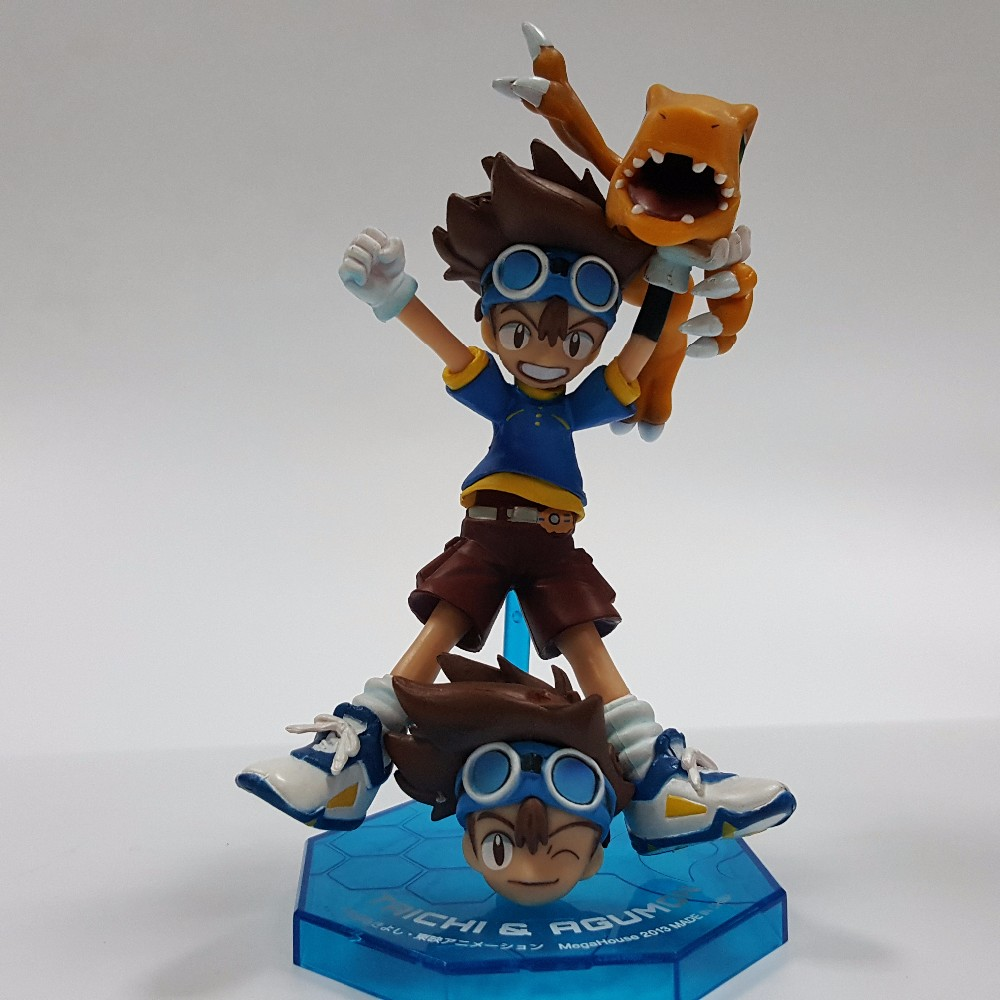 Digimon Action Figures Yagami Taichi Agumon PVC Figures 110mm Digital Monster Model Toys Digimon Adventure Game Digimons Doll image