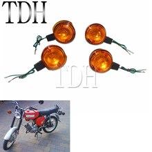 4 PCS Motorcycle Front & Rear Turn Signal Light Blinker Flasher Amber Lens For Simson S50 S51 S70