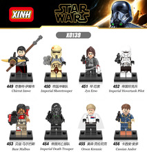 Building Blocks Star Wars Imperial Hovertank Pilot Chirrut Imwe Jyn Erso Baze Malbus Orson Krennic Cassian Andor Kids Toys X0139(China)