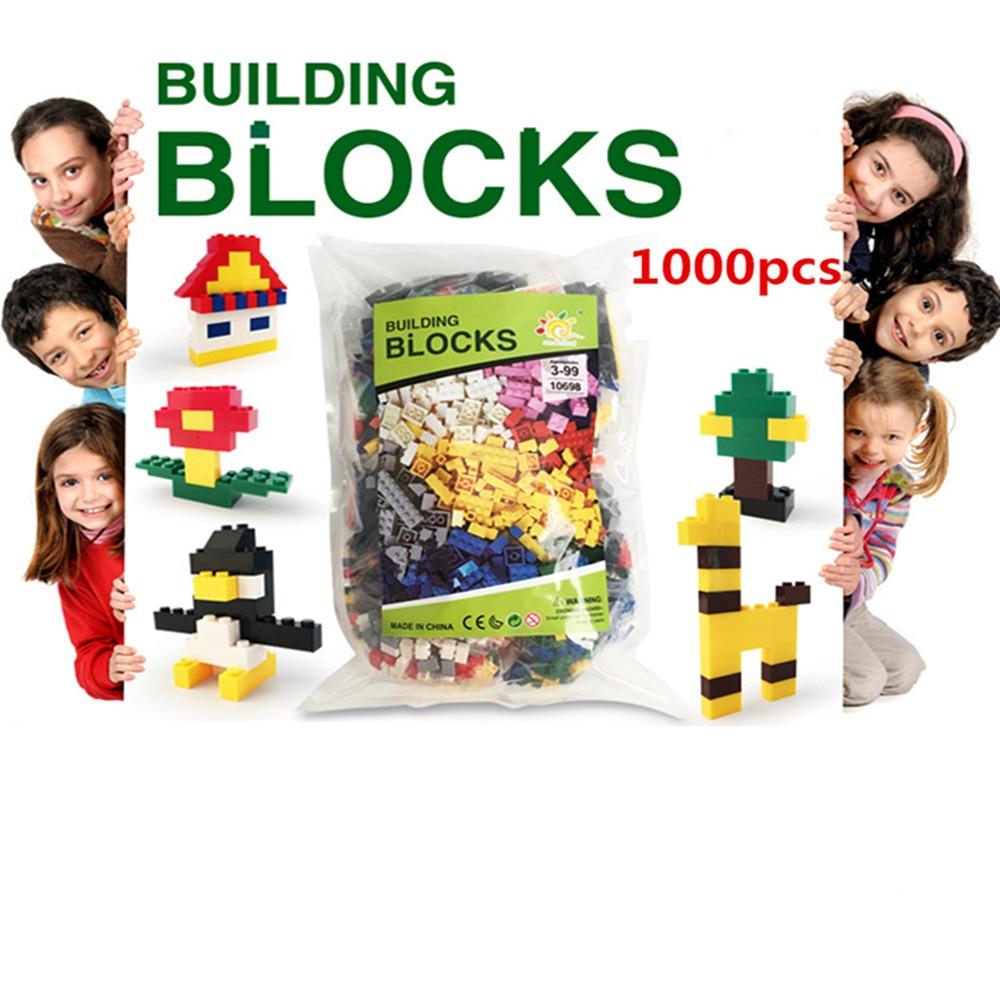 Lecgos 1000 PCS Bulk Building Blocks DIY Creative Bricks Toys for Children Educational Bricks Lecgos Compatible Mix Color decool 3114 city creator 3in1 vehicle transporter building block 264pcs diy educational toys for children compatible legoe