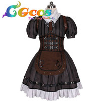 CGCOS Free Shipping Cosplay Costume Alice: Madness Returns Steampunk Alice New in Stock Halloween Christmas Uniform