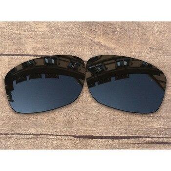 905b8b4348 Vonxyz Stealth negro polarizadas lentes para Oakley Jupiter cuadrado marco