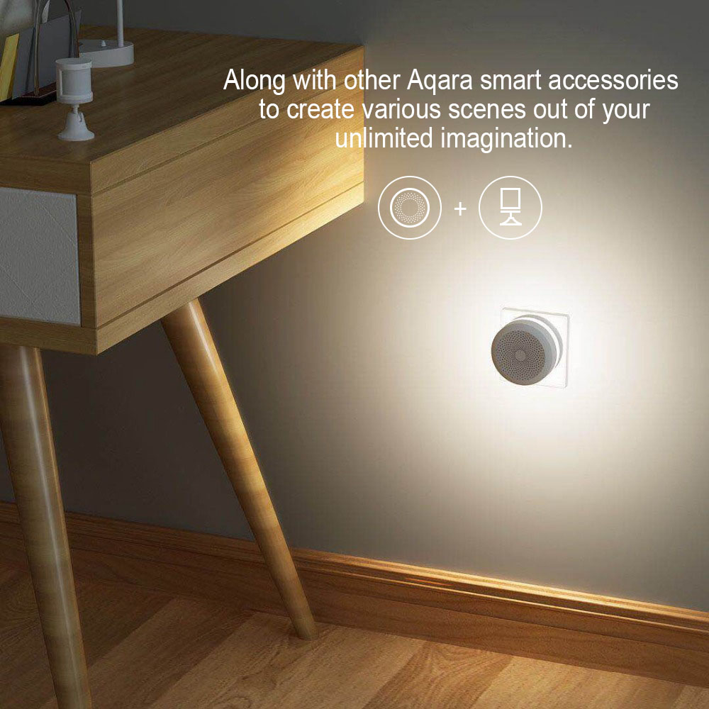 Image 3 - Original Xiaomi Mijia Aqara Hub , Mi Gateway2 with RGB Led night light Smart work with For Apple Homekit and aqara smart App-in Smart Remote Control from Consumer Electronics