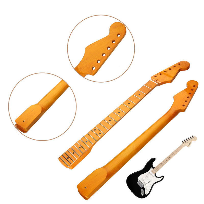Electric Guitar Neck 22 Fret Maple Wood for ST Parts Replacement Smooth Surface JUL12_25 2 maple guitar neck 22 fret full fret job nut neck for st tl replacement with nut 42