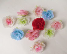 artificial flowers head Small sasanqua camellia simulation flowers silk cloth small diy jewelry accessories 4CM(China)