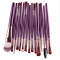 New Product Professional 15Pcs Cosmetic Makeup Brush Women Foundation Eyeshadow Lip Eye Brand MakeUp Brushes Set