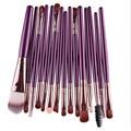 Nuevo Producto Profesional 15 Unids Cepillo Cosmética de Maquillaje Mujeres Sombra de Ojos Fundación Lip Marca Ojo Pinceles de Maquillaje Set