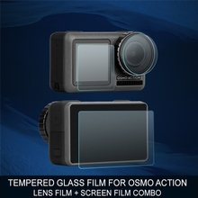 Protective Film Tempered Glass for DJI OSMO Action Lens and Screen